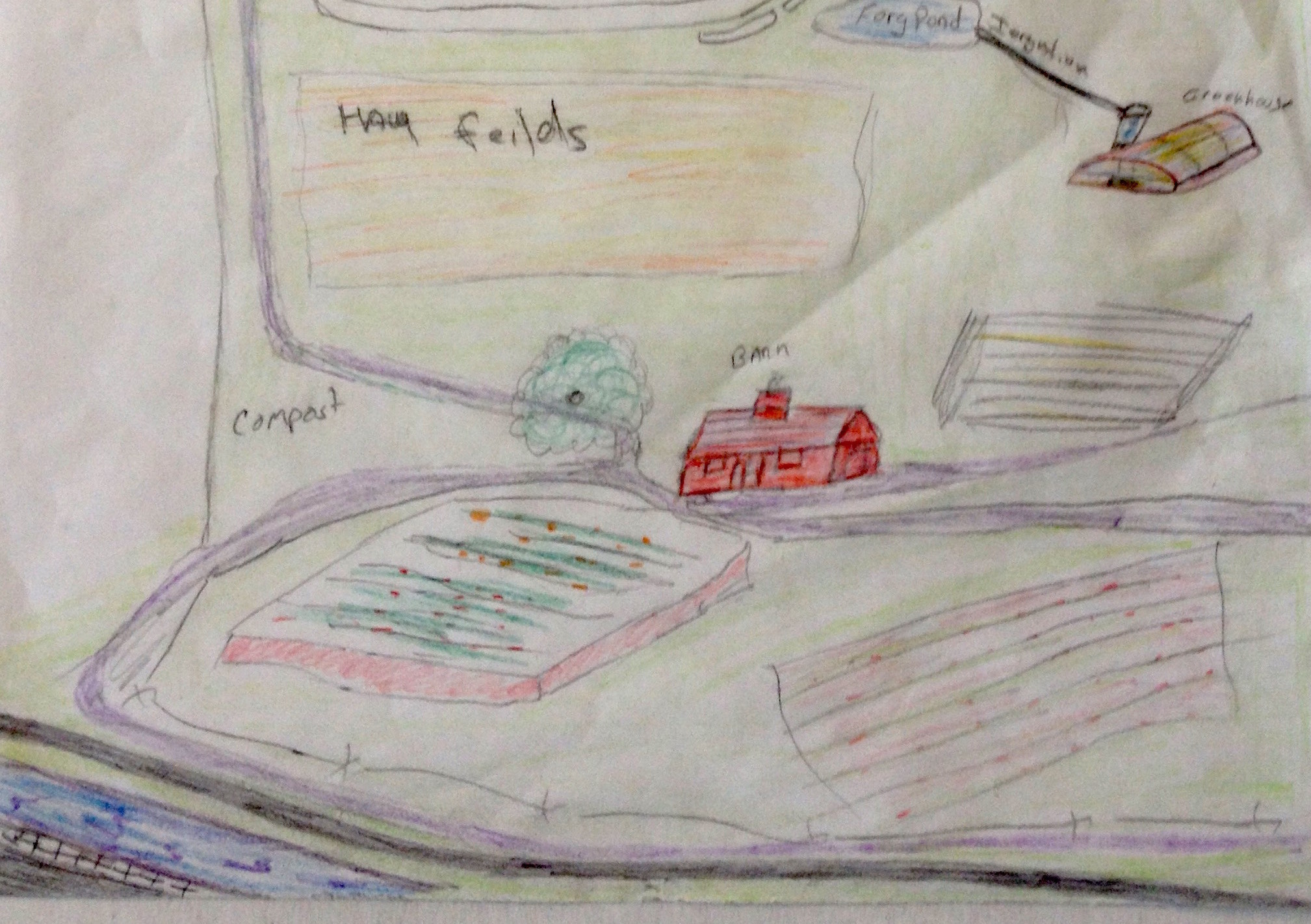 A map of the farm-focused coop developed by students in a class at the Franklin County jail in Massachusetts