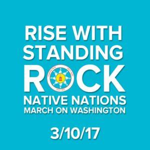 Promotional image for Native Nations Rise: March on Washington, 3/10/17